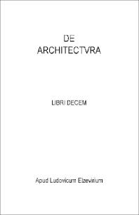 Cover image for De architectura