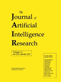 Journal of Artificial Intelligence Research, Volume 13 (JAIR), 1st Edition,Michael Wellman,ISBN9781558608078