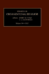 Research in Organizational Behavior - 1st Edition - ISBN: 9781559382427, 9780080886497
