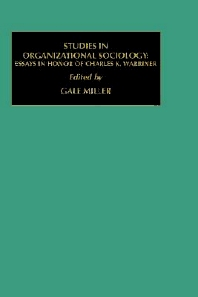 Studies in Organizational Sociology - 1st Edition - ISBN: 9781559383721, 9780080948676