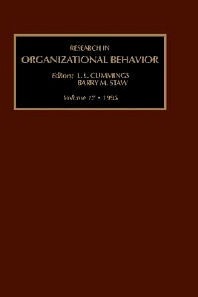 Research in Organizational Behavior - 1st Edition - ISBN: 9781559387439