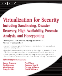 Virtualization for Security, 1st Edition,John Hoopes,ISBN9781597493055