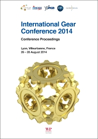Cover image for International Gear Conference 2014: 26th-28th August 2014, Lyon