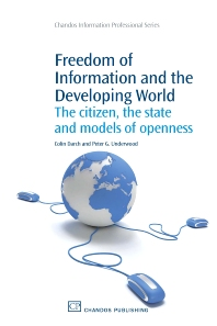 Freedom of Information and the Developing World - 1st Edition - ISBN: 9781843341475, 9781780630205