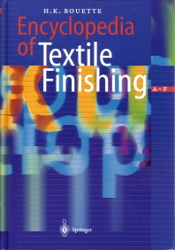 Cover image for Encyclopedia of Textile Finishing
