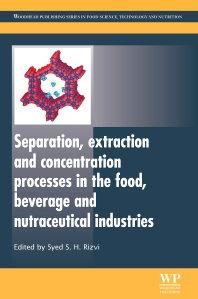 Cover image for Separation, Extraction and Concentration Processes in the Food, Beverage and Nutraceutical Industries