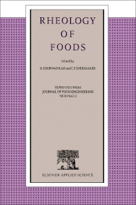 Cover image for Rheology of Foods
