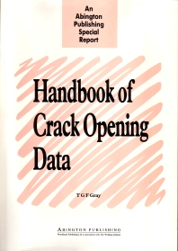 Handbook of Crack Opening Data - 1st Edition - ISBN: 9781855730977, 9780857093233