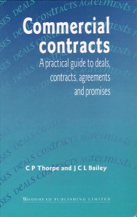 Commercial Contracts - 1st Edition - ISBN: 9781855732506, 9781845698980