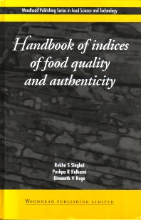 Cover image for Handbook of Indices of Food Quality and Authenticity