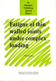 Fatigue of Thin Walled Joints Under Complex Loading - 1st Edition - ISBN: 9781855733381