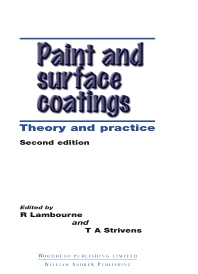 Cover image for Paint and Surface Coatings