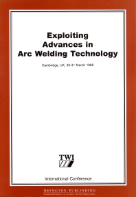 Cover image for Exploiting Advances in Arc Welding Technology