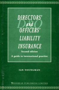 Cover image for Directors' and Officers' Liability Insurance