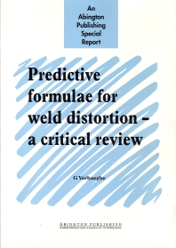 Predictive Formulae for Weld Distortion - 1st Edition - ISBN: 9781855734449