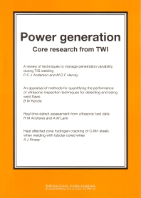Power Generation - 1st Edition - ISBN: 9781855735163