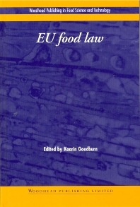 EU Food Law - 1st Edition - ISBN: 9781855735576, 9781855736306