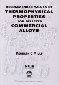 Cover image for Recommended Values of Thermophysical Properties for Selected Commercial Alloys