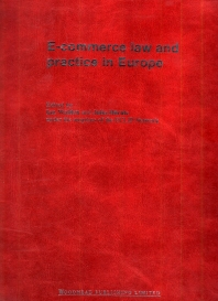 E-commerce Law and Practice in Europe - 1st Edition - ISBN: 9781855735804, 9781845699000