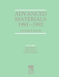 Advanced Materials 1991-1992 - 1st Edition - ISBN: 9781856170819, 9781483294001