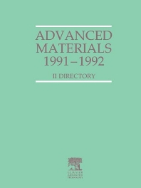 Advanced Materials 1991-1992 - 1st Edition - ISBN: 9781856170826, 9781483293516