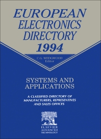 European Electronics Directory 1994 - 1st Edition - ISBN: 9781856172295, 9781483292649