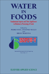 Water in Foods - 1st Edition - ISBN: 9781858610375, 9781483292663