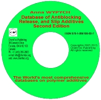 Database of Antiblocking, Release and Slip Additives, 2nd Edition,Anna Wypych,ISBN9781895198607