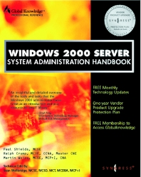 Windows 2000 Server System Administration Handbook - 1st Edition - ISBN: 9781928994091, 9780080481753