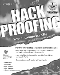 Hack Proofing Your E-commerce Web Site - 1st Edition - ISBN: 9781928994275, 9780080478104