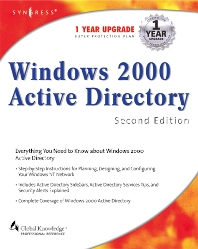Windows 2000 Active Directory 2E, 2nd Edition, Syngress,ISBN9781928994602