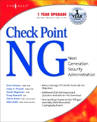 Checkpoint Next Generation Security Administration, 1st Edition, Syngress,ISBN9781928994749