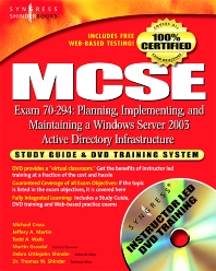Cover image for MCSE Planning, Implementing, and Maintaining a Microsoft Windows Server 2003 Active Directory Infrastructure (Exam 70-294)