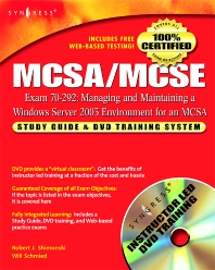 Cover image for MCSA/MCSE Managing and Maintaining a Windows Server 2003 Environment for an MCSA Certified on Windows 2000 (Exam 70-292)
