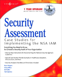 Security Assessment, 1st Edition, Syngress,ISBN9781932266962