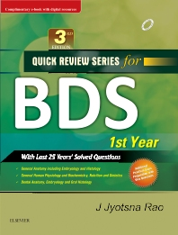 QRS for BDS I Year - 3rd Edition - ISBN: 9788131244432, 9788131246429
