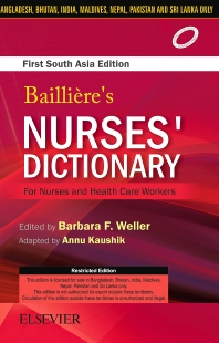 Cover image for Bailliere's Nurses Dictionary for Nurses and Health Care Workers, 1st South Aisa Edition