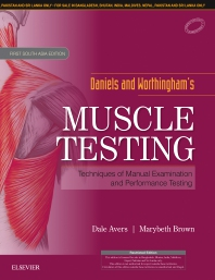 Daniels and Worthingham's Muscle Testing, First South Asia Edition - 1st Edition - ISBN: 9788131256374