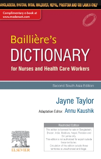 Cover image for Baillière's Dictionary for Nurses and Health Care Workers, 2nd South Aisa Edition