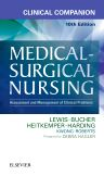 Clinical Companion to Medical-Surgical Nursing, 10th Edition,Sharon Lewis,Debra Hagler,Linda Bucher,Margaret Heitkemper,Mariann Harding,Jeffrey Kwong,Dottie Roberts,ISBN9780323371179