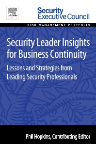 Security Leader Insights for Business Continuity, 1st Edition,Bob Hayes,ISBN9780128008393